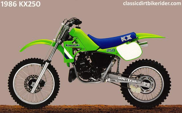 1986 KAWASAKI KX250 classicdirtbikerider.com