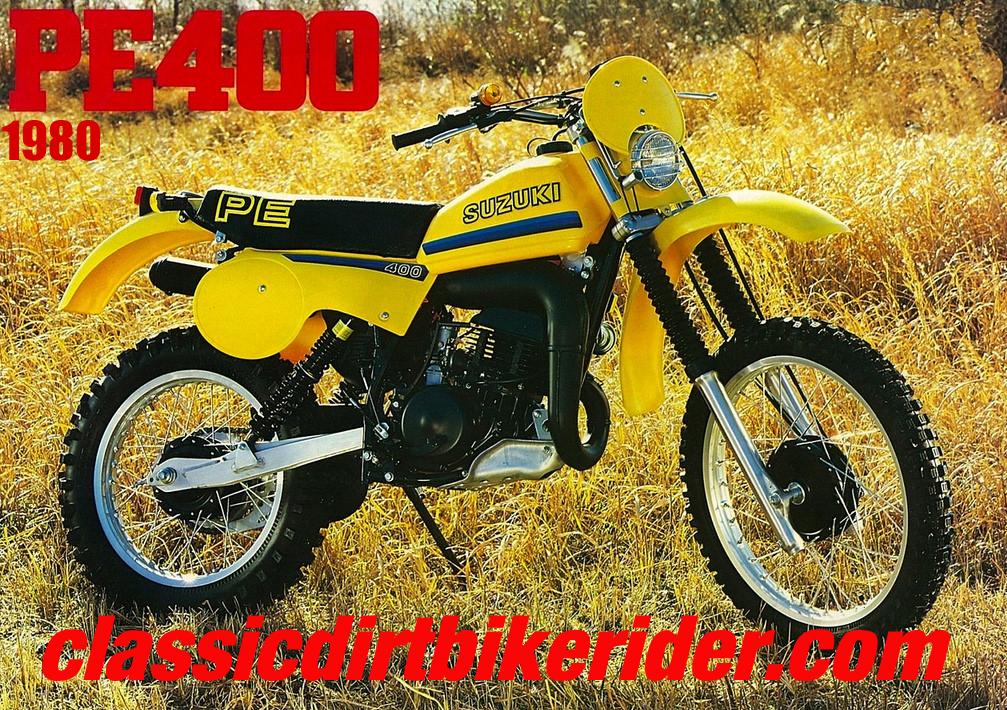 1980 SUZUKI PE400T TWINSHOCK ENDURO www.classicdirtbikerider.com